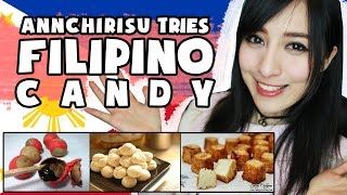 British Asian Girl Tries FILIPINO Sweets/ Candies! | Annchirisu