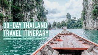Thailand Travel Itinerary For 30 Days   Helpful Transportati...