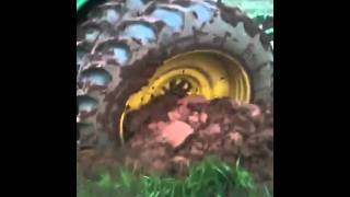 A stuck tractor