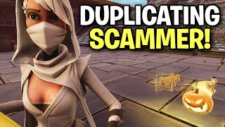 Scammer knows new duplication method? 😱 (Scammer Get Scammed) Fortnite Save The World