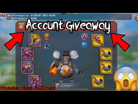Account Giveaway! Monster Hunting | Lords Mobile
