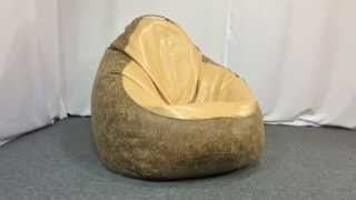 Кресло мешок груша из эко-кожи - обзор   ТМ PromoPuff - мебель от души