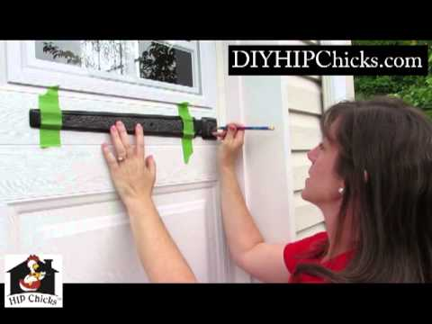 DIY HIP Chicks- How to Install Garage Door Decorative Hardware from Coach House Accents