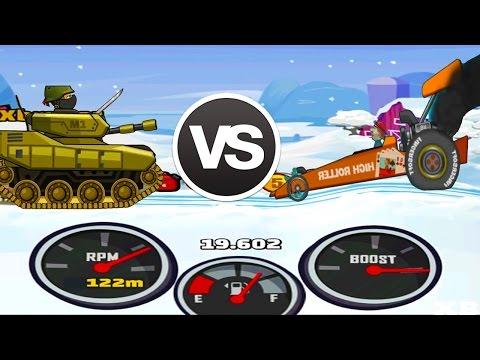 Hill Climb Racing 2 vs Hill Climb Racing 1 - Tank vs Dragster New Compilation