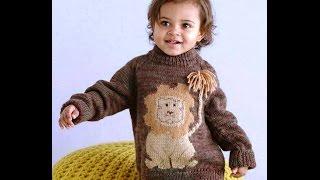 Детский Джемпер Спицами - 2019 / Children Sweater Spokes / Kinder Pullover Spokes