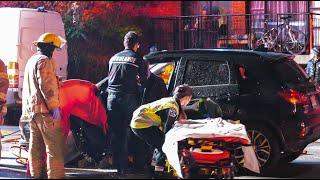 Accident de voiture avec désincarcération / Accident with jaw of life 01-11-18 MONTRÉAL
