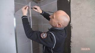 Brusevæg-bruseafskærmning. Sådan monterer du glasvæg i dit badeværelse