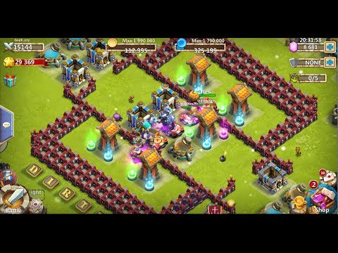 Castle Clash Strategy 40: Here Be Monsters - GodFuzzy DD With TownHall 12, 13, 14, And 17.