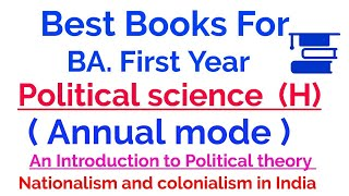 Download BEST BOOKS FOR BA POLITICAL SCIENCE HONOURS FIRST