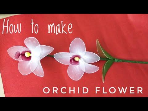 How to make Flowers || Easy Stocking Net Orchid Flower Stem