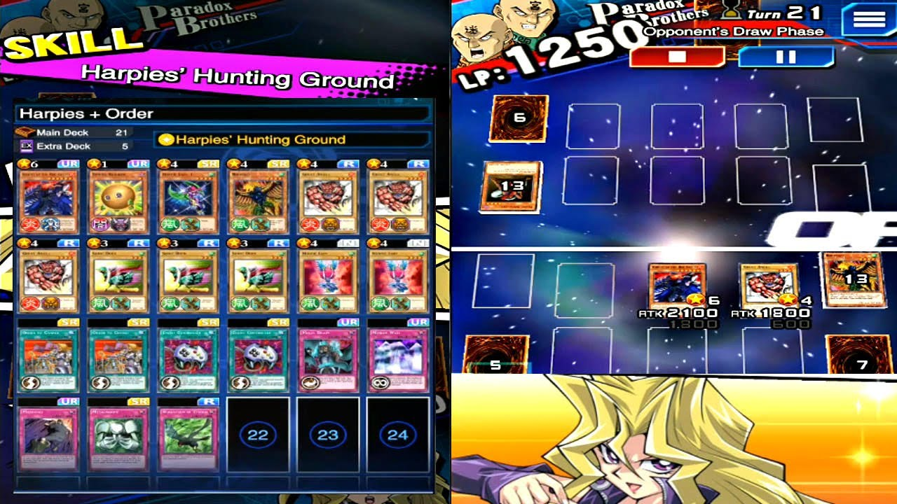 yu gi oh duel links red lotus with harpies pvp mai valentine
