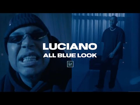 LUCIANO All Blue Look + Lightroom Mobile Preset DNG File