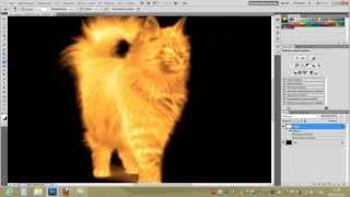Фотошоп CS5 Урок №2 Огненный рисунок