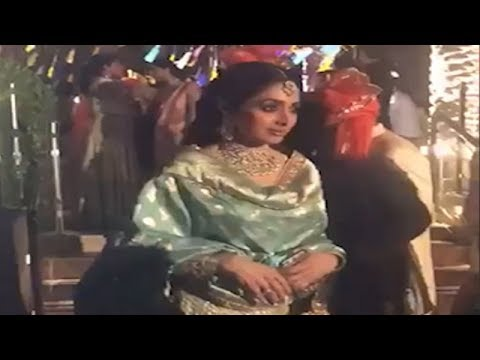 Last video of Bollywood actress Sridevi