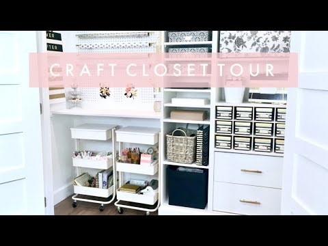 Craft Closet and Planner Cart Organization and Tour