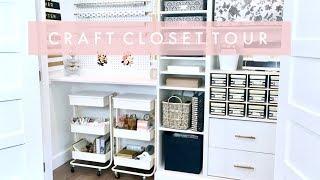 Craft Closet and Planner Cart Organization and Tour