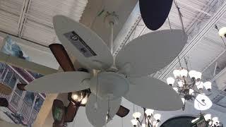Turn of the Century San Lucas ceiling fan spinning at Menards