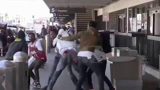 Tekashi69 Fight At LAX - (6ix9ine Fight)🤣😂