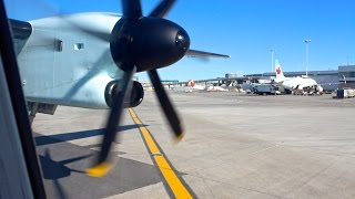 PROP JOB   Air Canada Express Bombardier Q400 Intersection Takeoff from Toronto