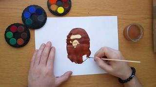 How to draw the Bape logo