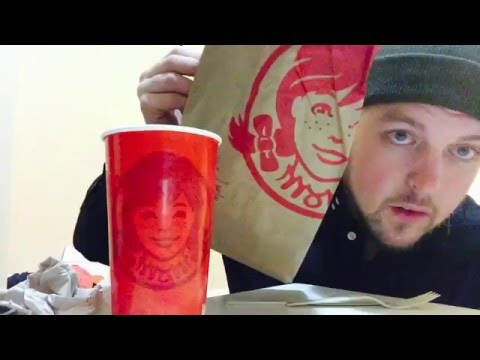 ASMR EATING WENDYS AND BEING EXTRA