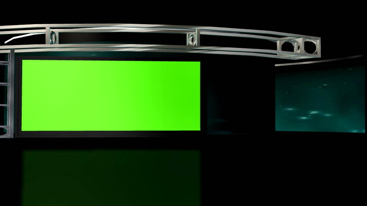 free hd virtual studio set 2 background loop with green screen tv