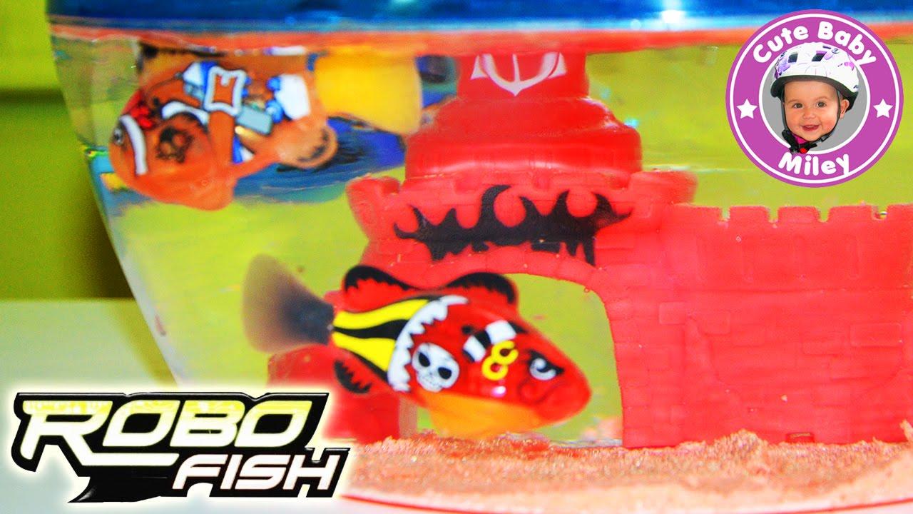 Robo fish pirate aquarium und drei piraten fische unbox for Robo fish tank
