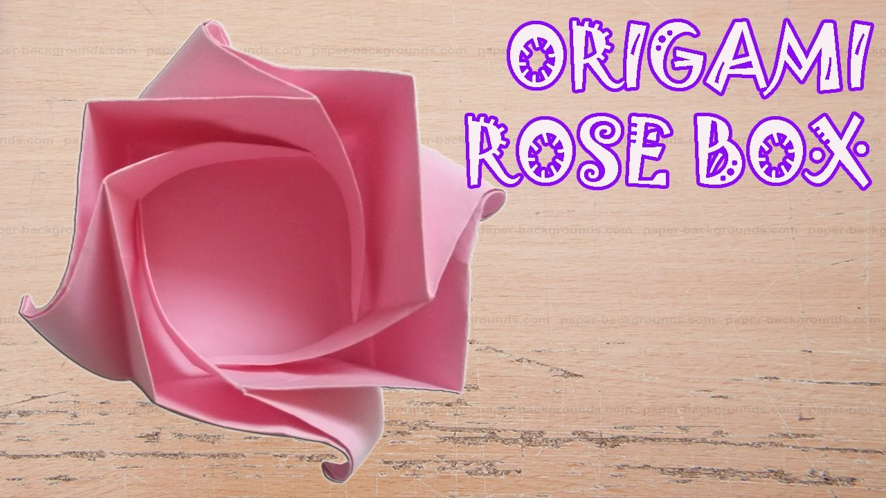 origami rose box instructions origami easy youtube