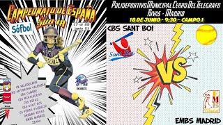 CBS SANT BOI vs EMBS - 9:30 - GRUPO A - FASE CLASIFICACIÓN
