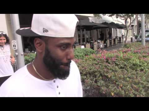 Denzel's Son John David Washington of HBO's Ballers Strolls Like Ricky Jerret in Beverly Hills