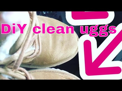 Diy cleaning uggs ugg boots / shoes restoring suede leather