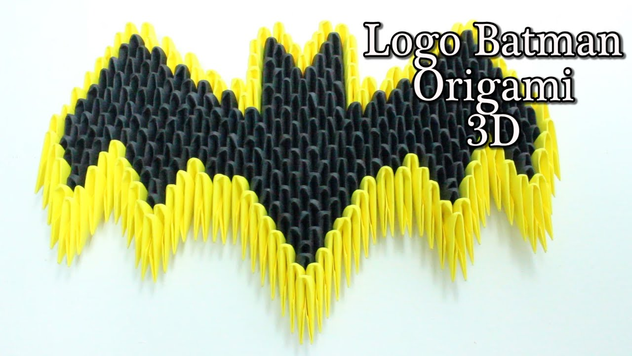 Escudo de batman origami 3d tutorial youtube jeuxipadfo Image collections