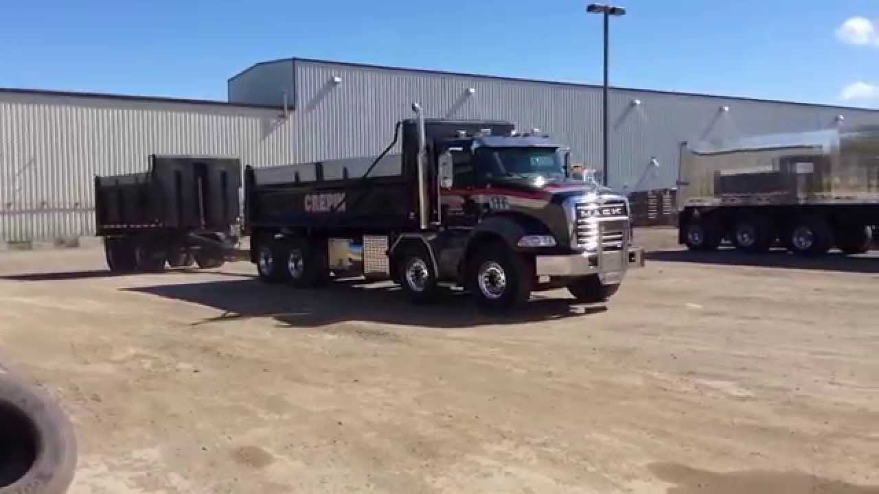 mack gu813 dump truck simard twin steer ams40t2 [ 1280 x 720 Pixel ]