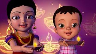 దీపావళి పండుగ వచ్చింది - Diwali Song | Telugu Rhymes for Children | Infobells