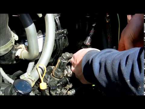 How to change fuel filter on Mahindra 4035 Tractor YouTube