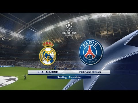 PES 2018 | Real Madrid vs Paris Saint Germain | UEFA Champions League 2017-18 Round of 16 First Leg