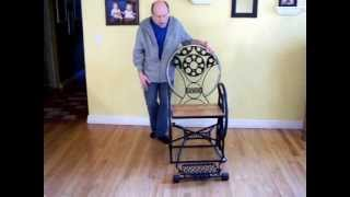 Steampunk Sculptured Folk Art Metal Chair Functional Modern Vintage Furniture 2