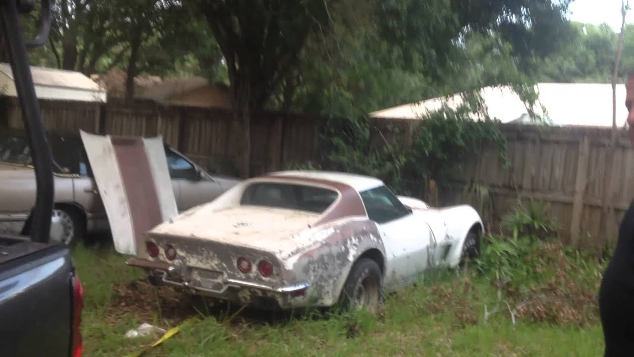 for sale abandoned 1973 chevy corvette stingray ls4 454. Black Bedroom Furniture Sets. Home Design Ideas