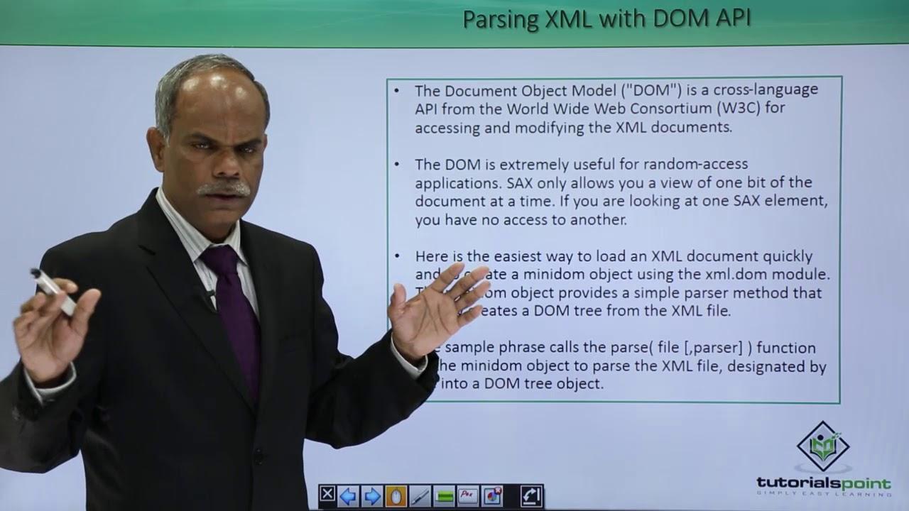 Python - Parsing XML with DOM API - YouTube