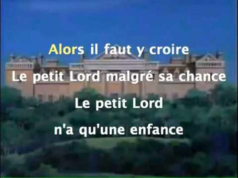 Le Petit Lord - Générique Karaoké instrumental