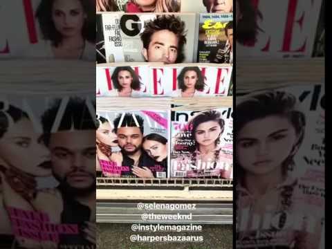 Selena Gomez & The Weeknd InStyle & Harper