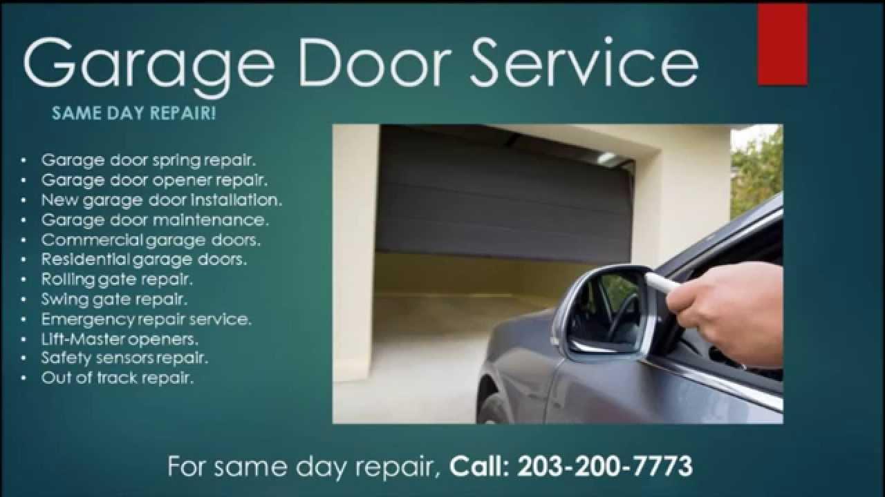 Garage Door Danbury Ct 203 200 7773 Youtube