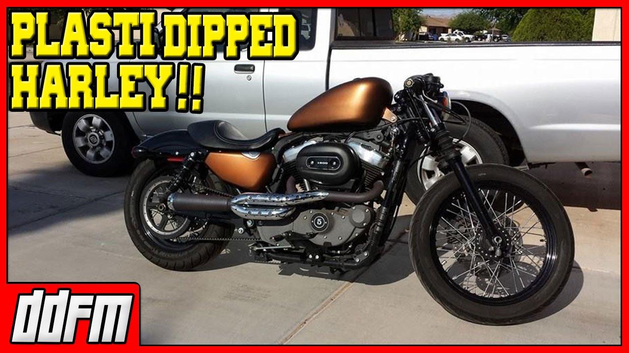 Plasti Dipping My Harley Davidson Sportster Copper Metalizer Youtube