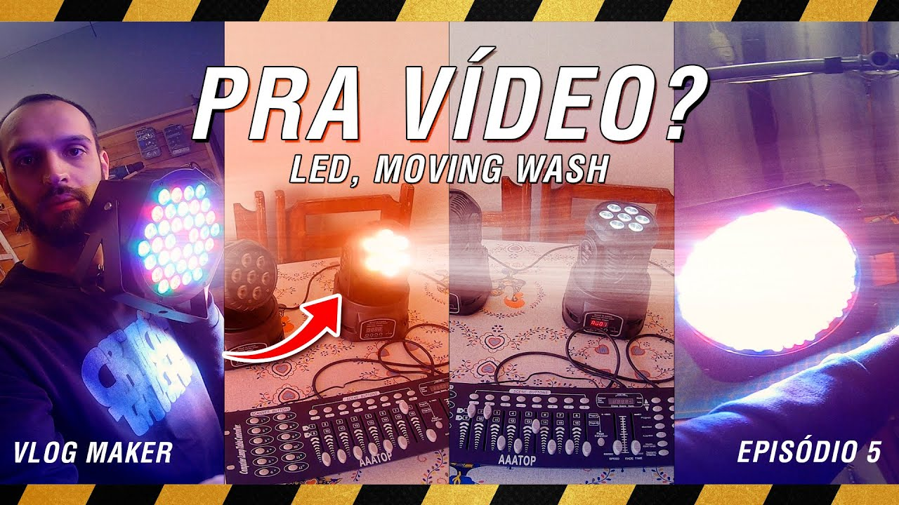 COMPREI CANHÕES DE SHOW PRA ILUMINAR MEUS VÍDEOS (BALADA NO ESTÚDIO) - VlogMaker EP 5