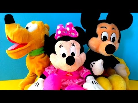 disney toys mickey mouse minnie mouse and pluto youtube. Black Bedroom Furniture Sets. Home Design Ideas