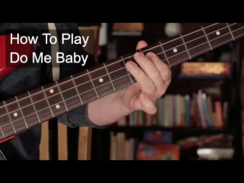 'Do Me, Baby' Bassline and Chords - Prince Guitar Lesson