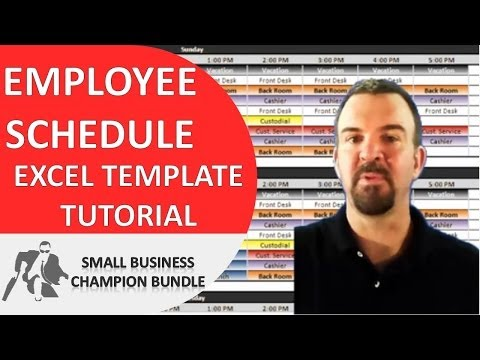 Employee Schedule Template - Excel Shift Planner