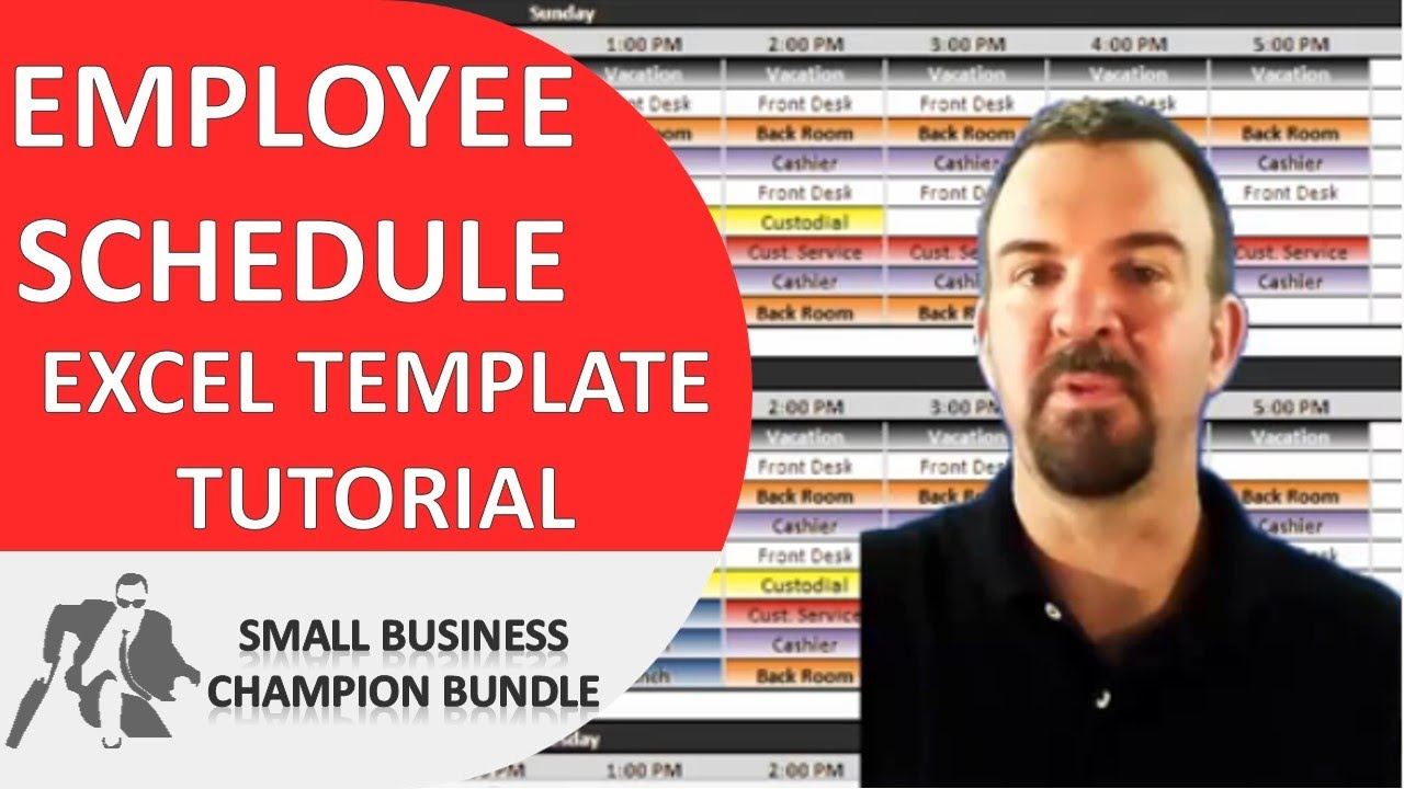 employee schedule template excel shift planner youtube