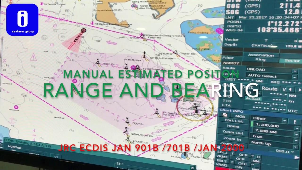 how to make manual estimate position using jrc ecdis youtube rh youtube com