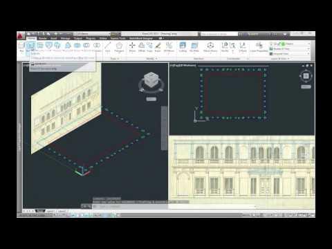 Tutorial Autocad - Modello 3D Volumetrico di Villa Argentina